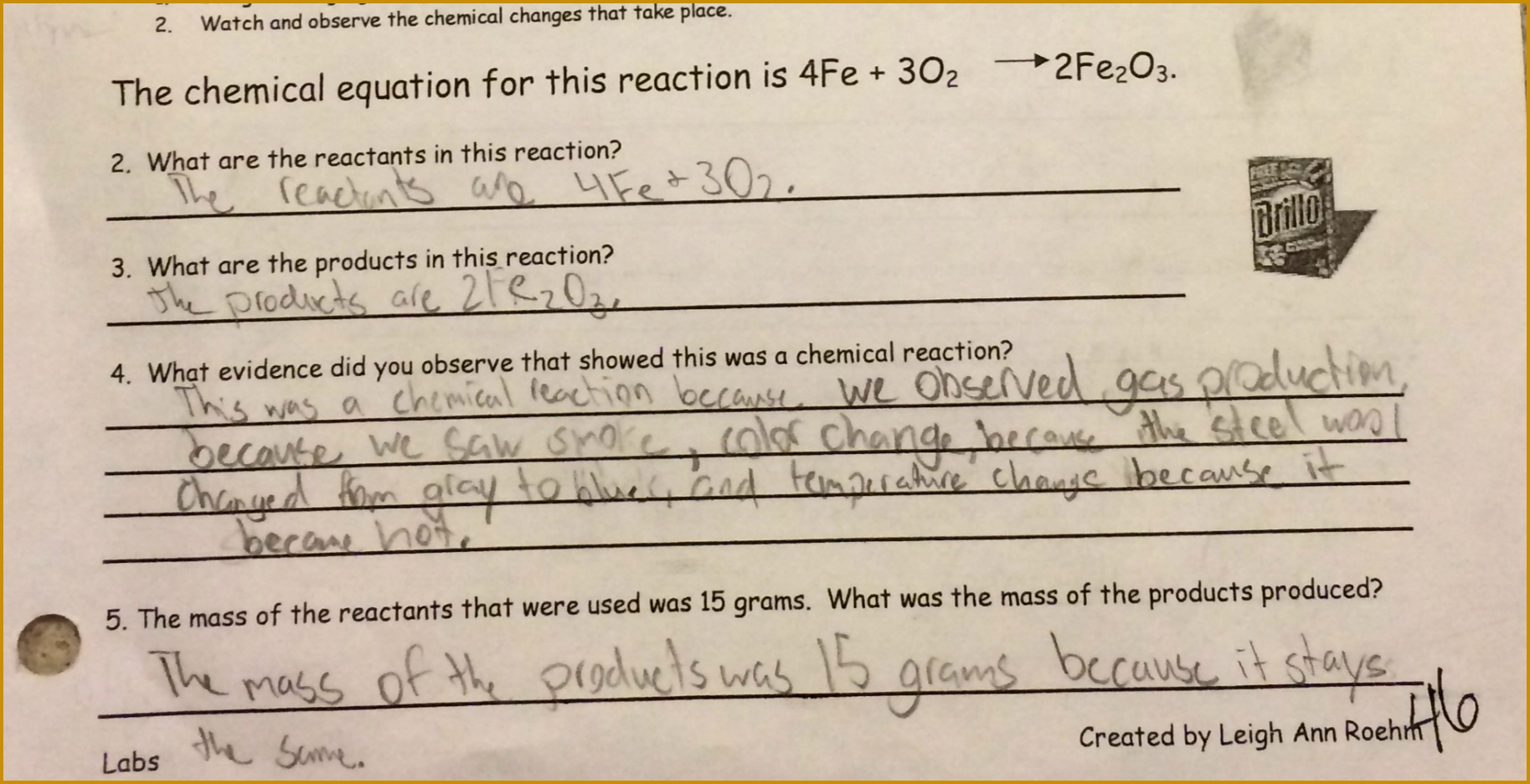 6 Predicting Products Of Chemical Reactions Worksheet