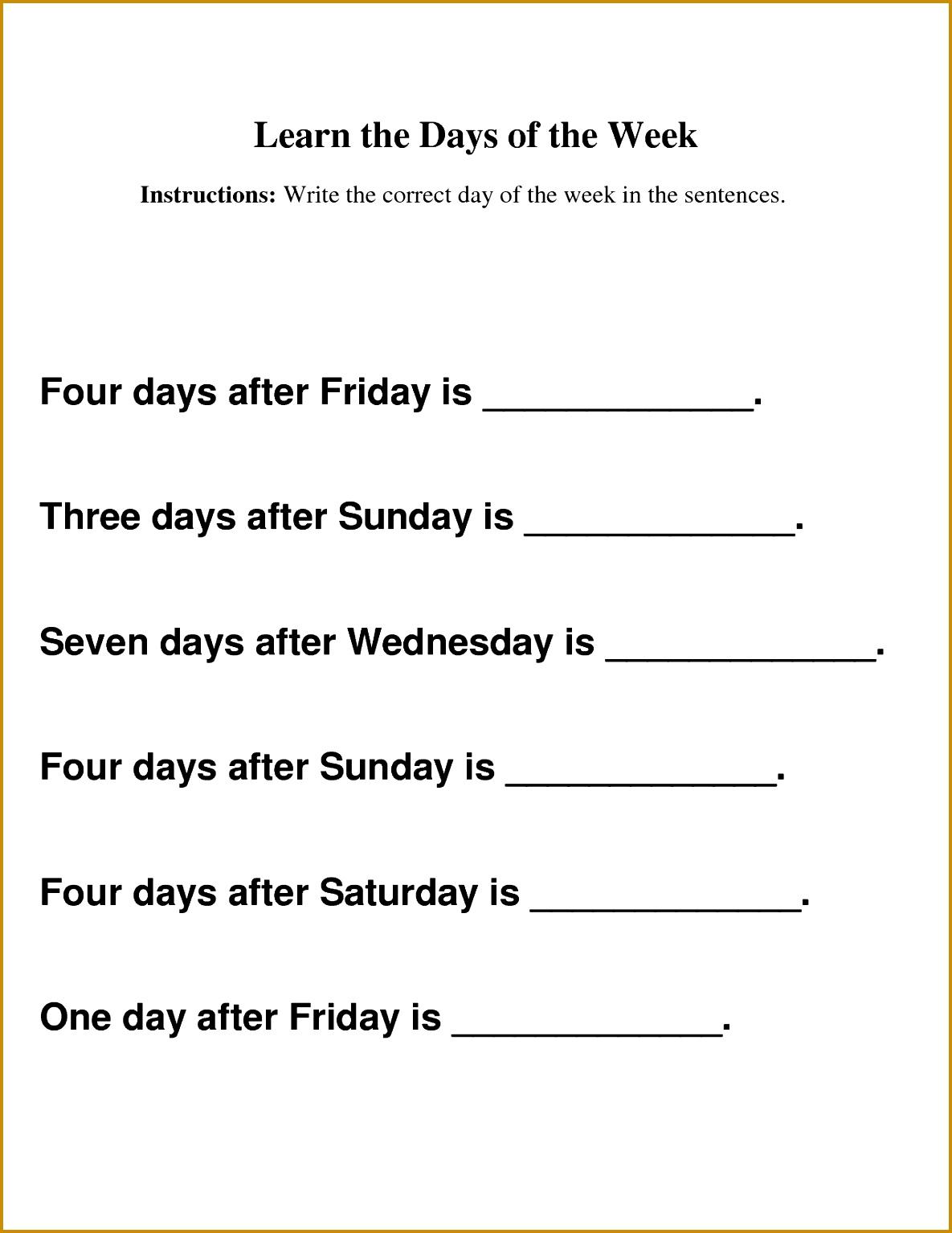 7 Printable Worksheets