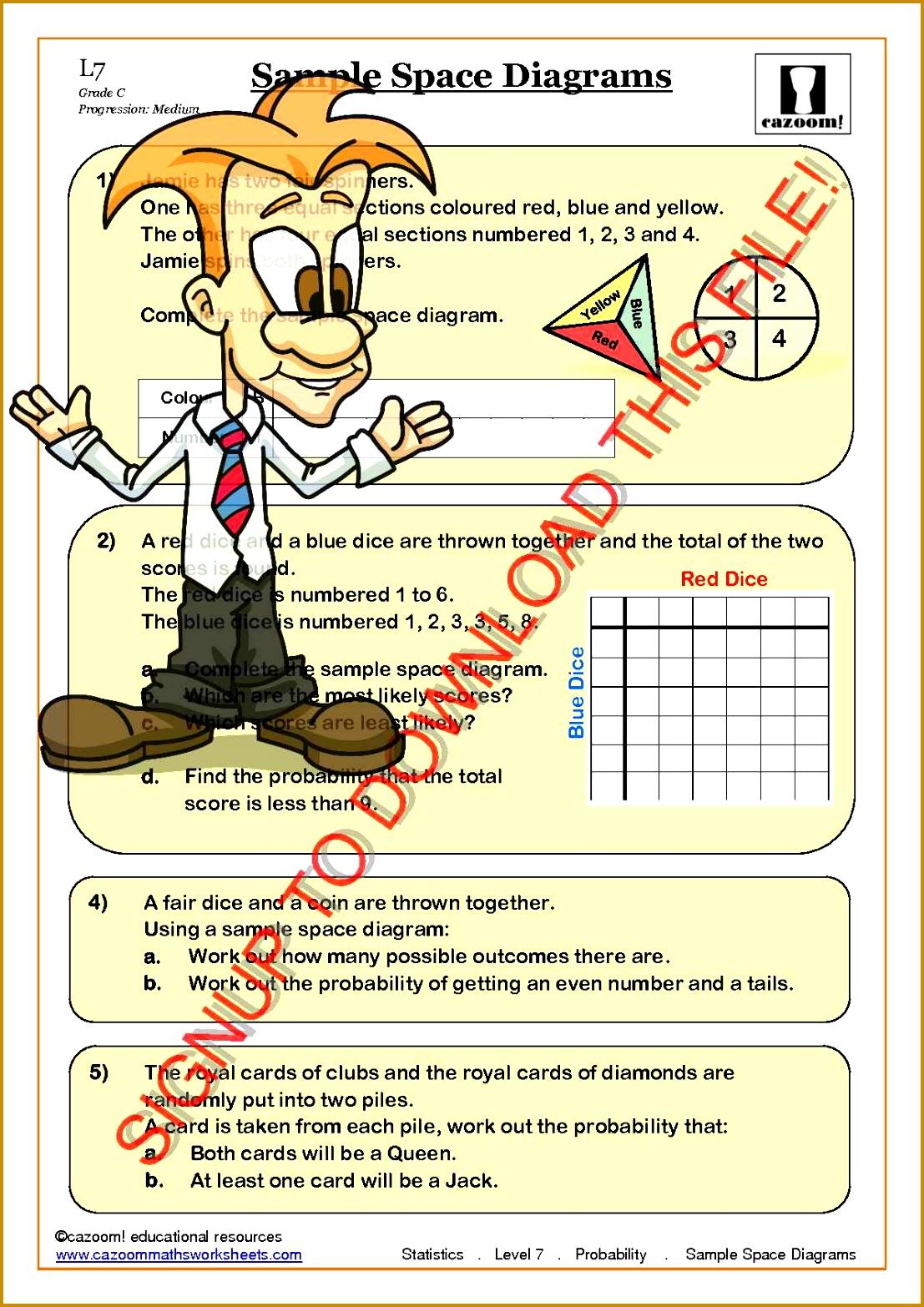 6 Probability Worksheets