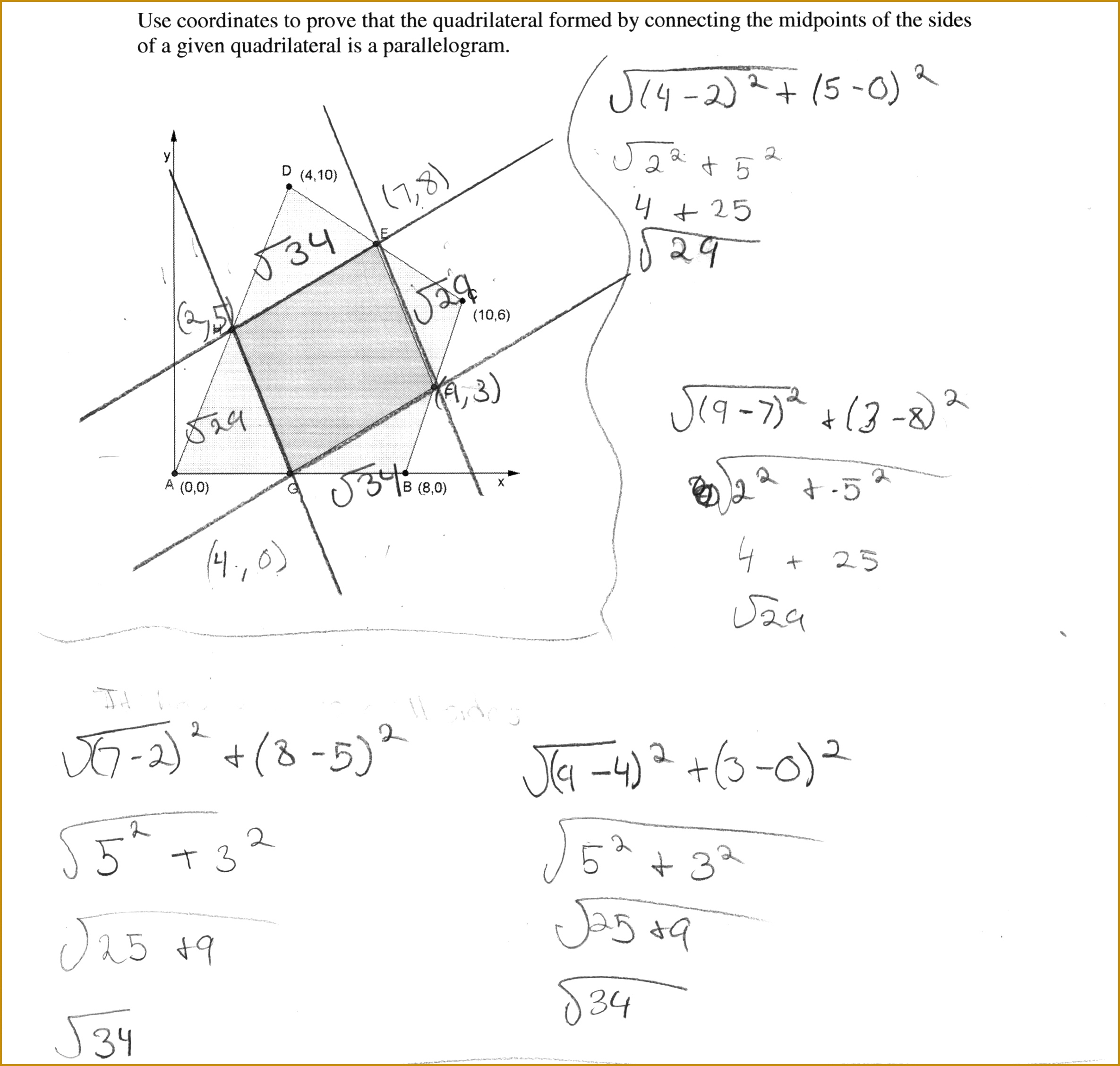 4 Properties Of Quadrilaterals Worksheet