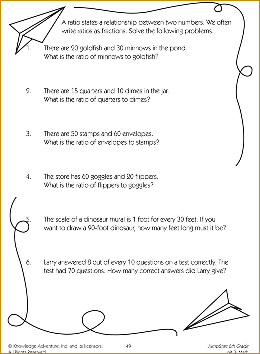 6 Proportions Worksheet