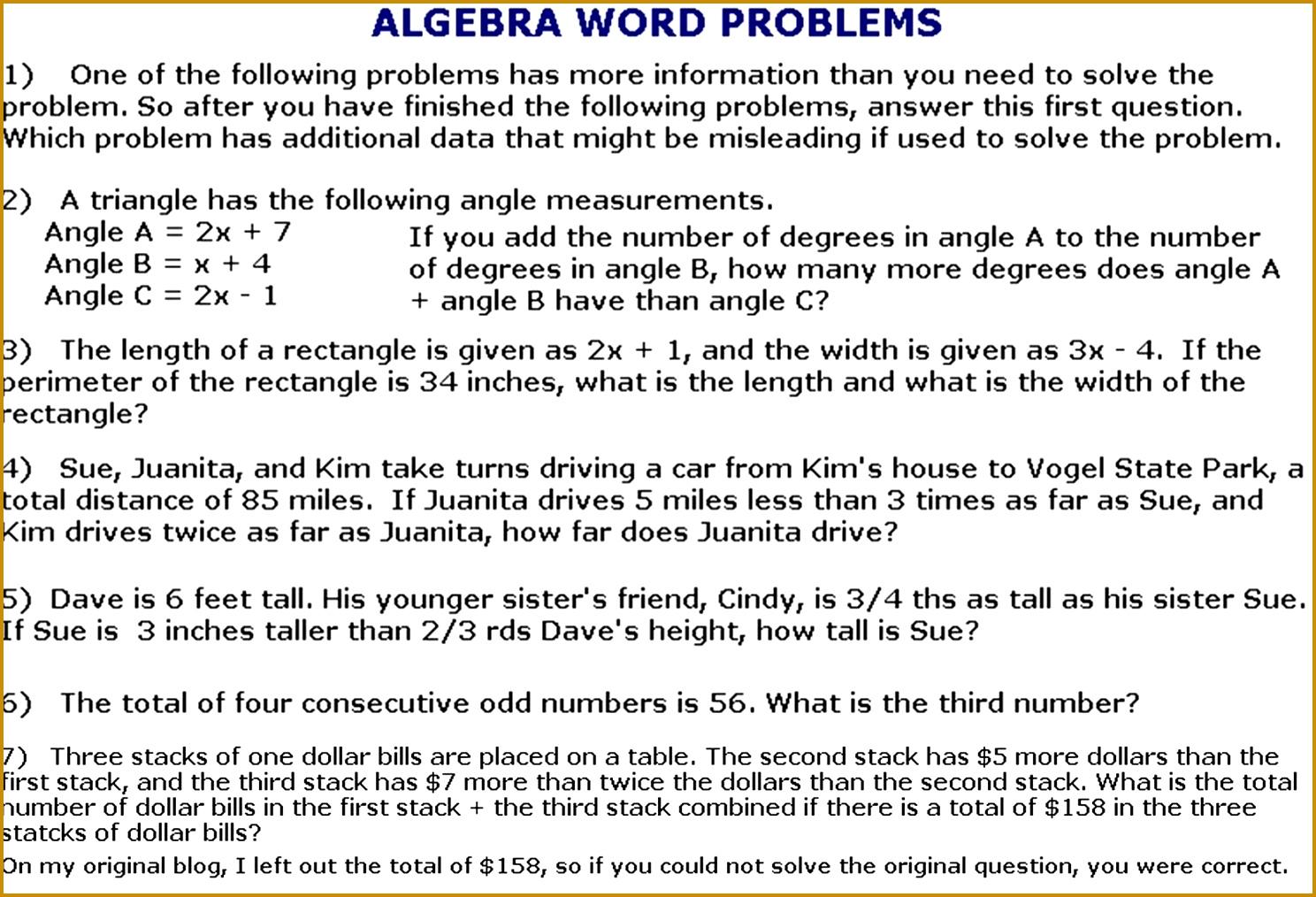 6 Quadratic Equation Worksheet