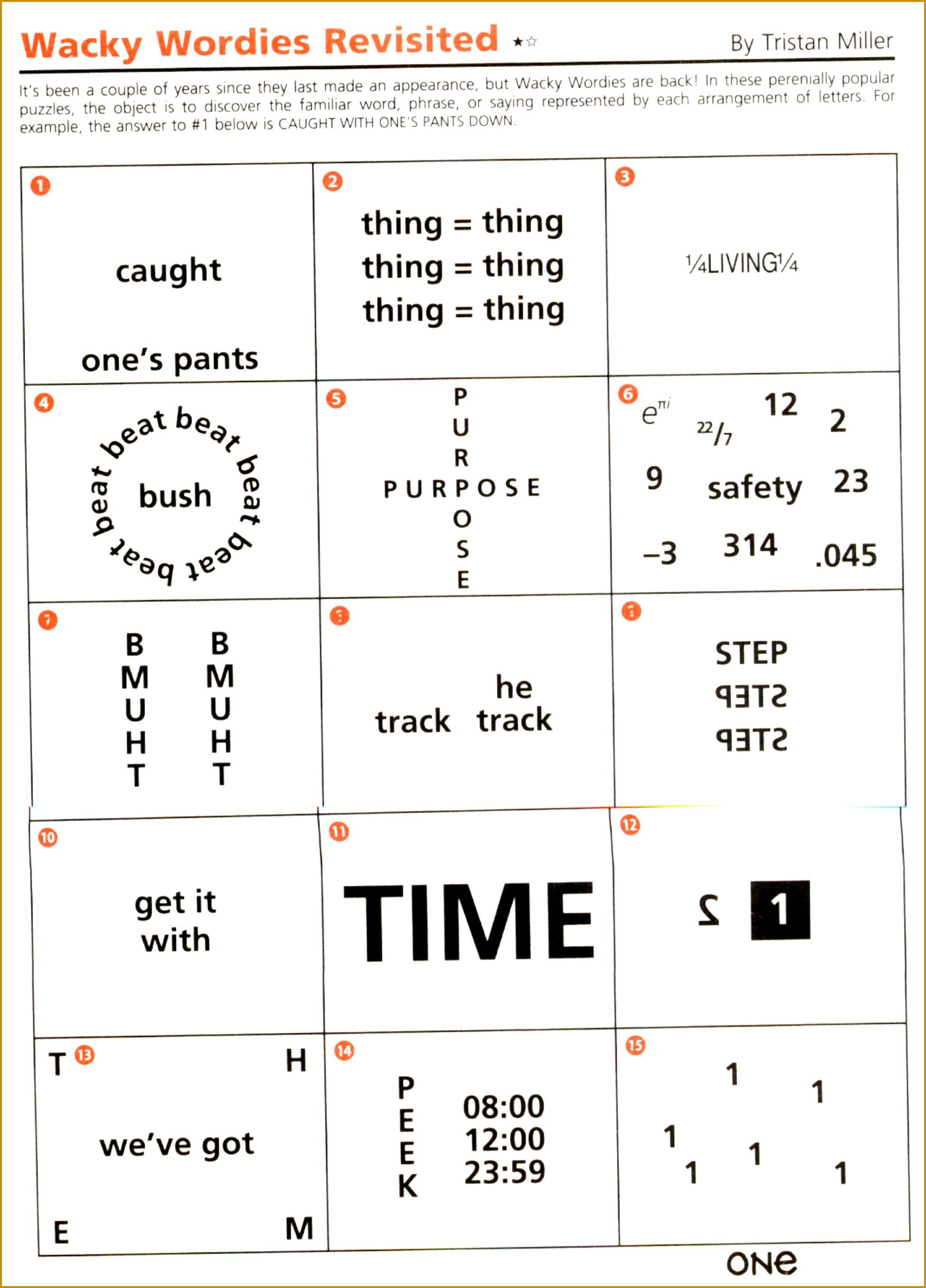 6 Rebus Puzzles Worksheet