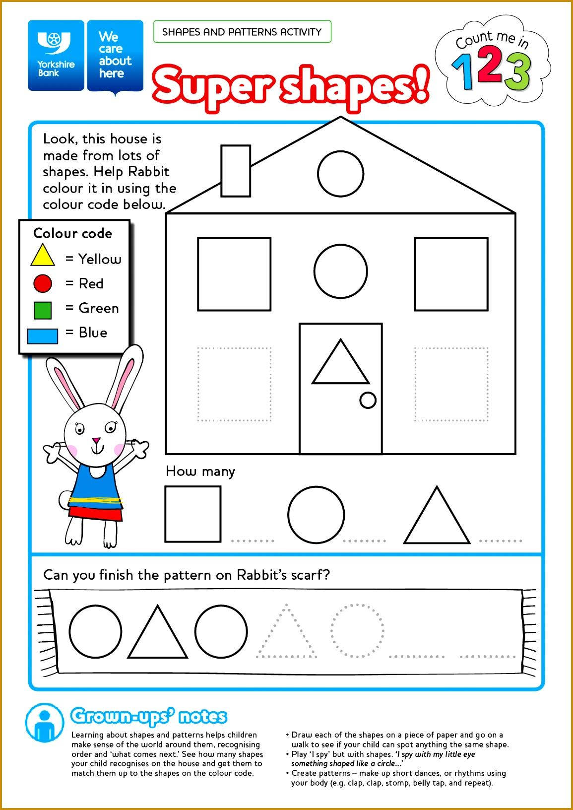 3 Shapes Worksheets