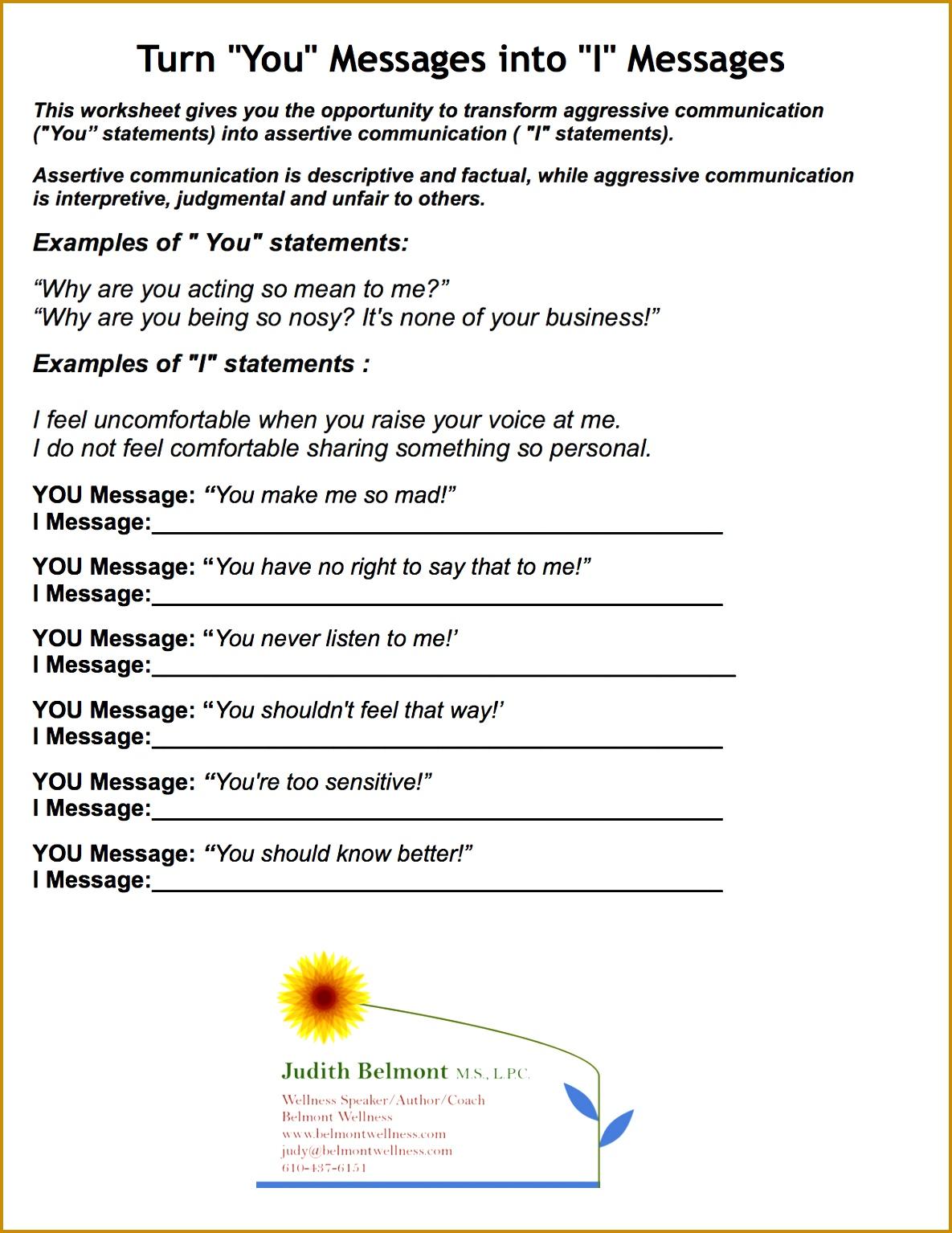 4 Social Skills Worksheets