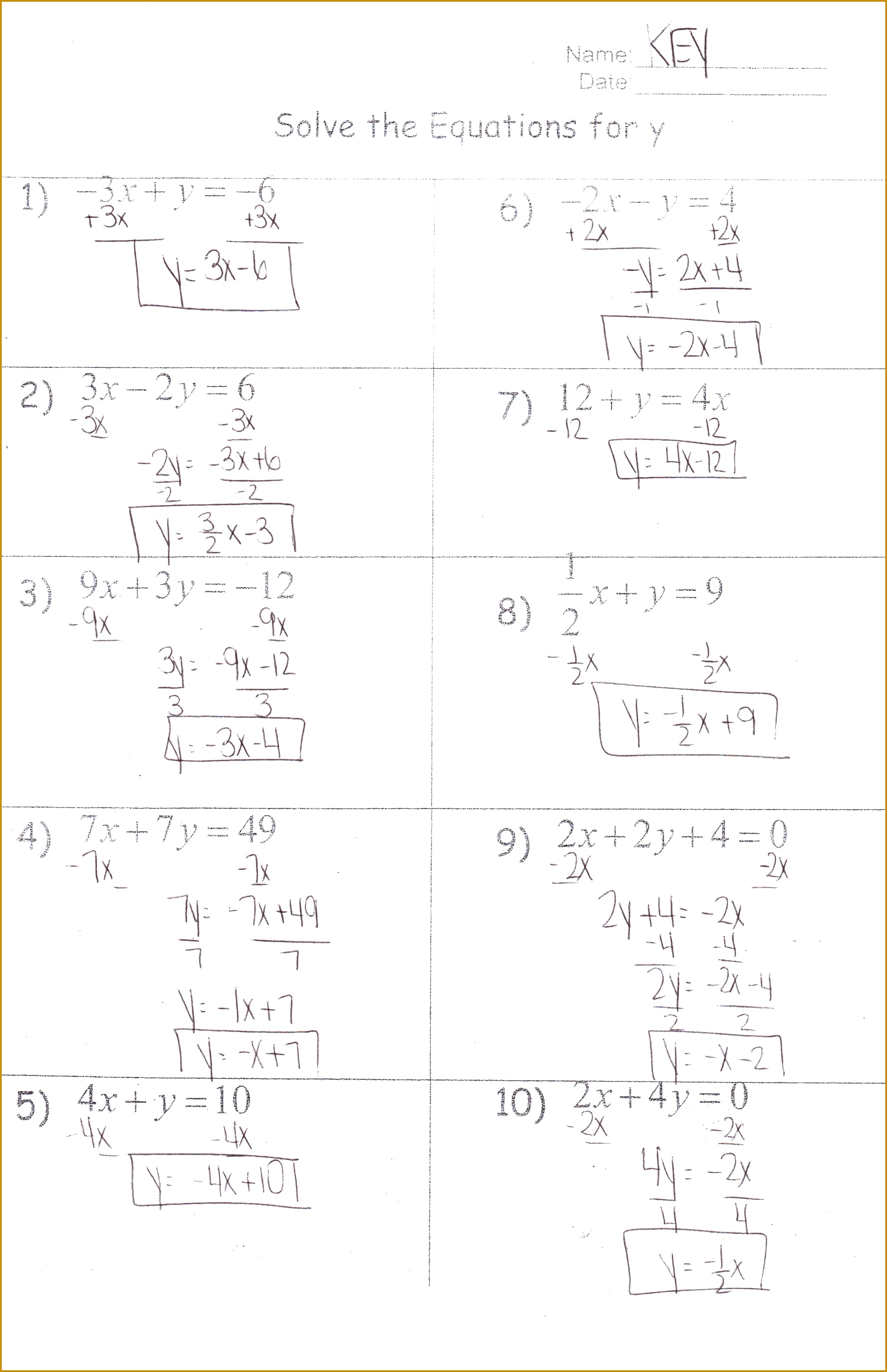 Graphing Inequalities Worksheet Doc