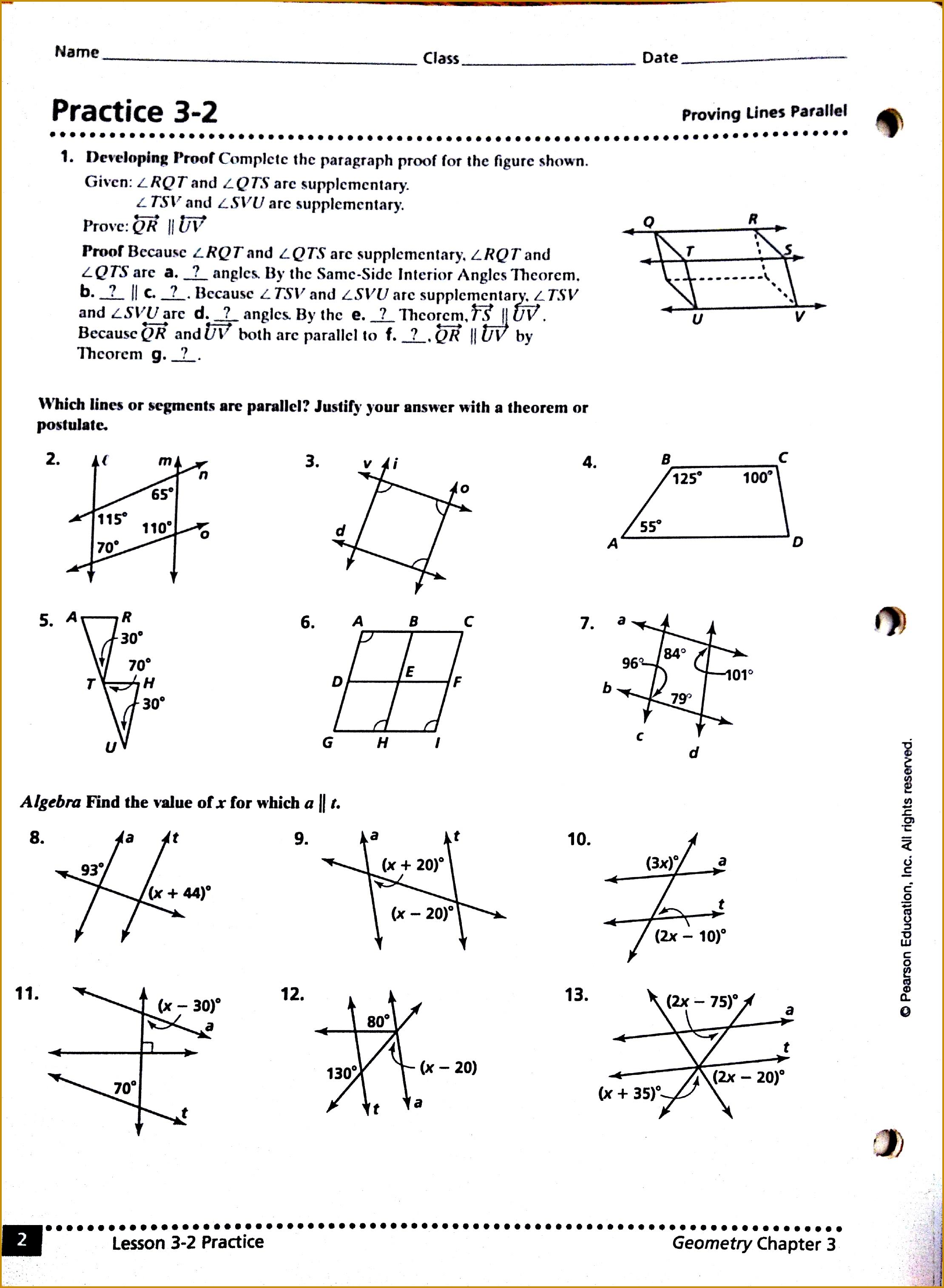 3 Triangle Congruence Worksheet