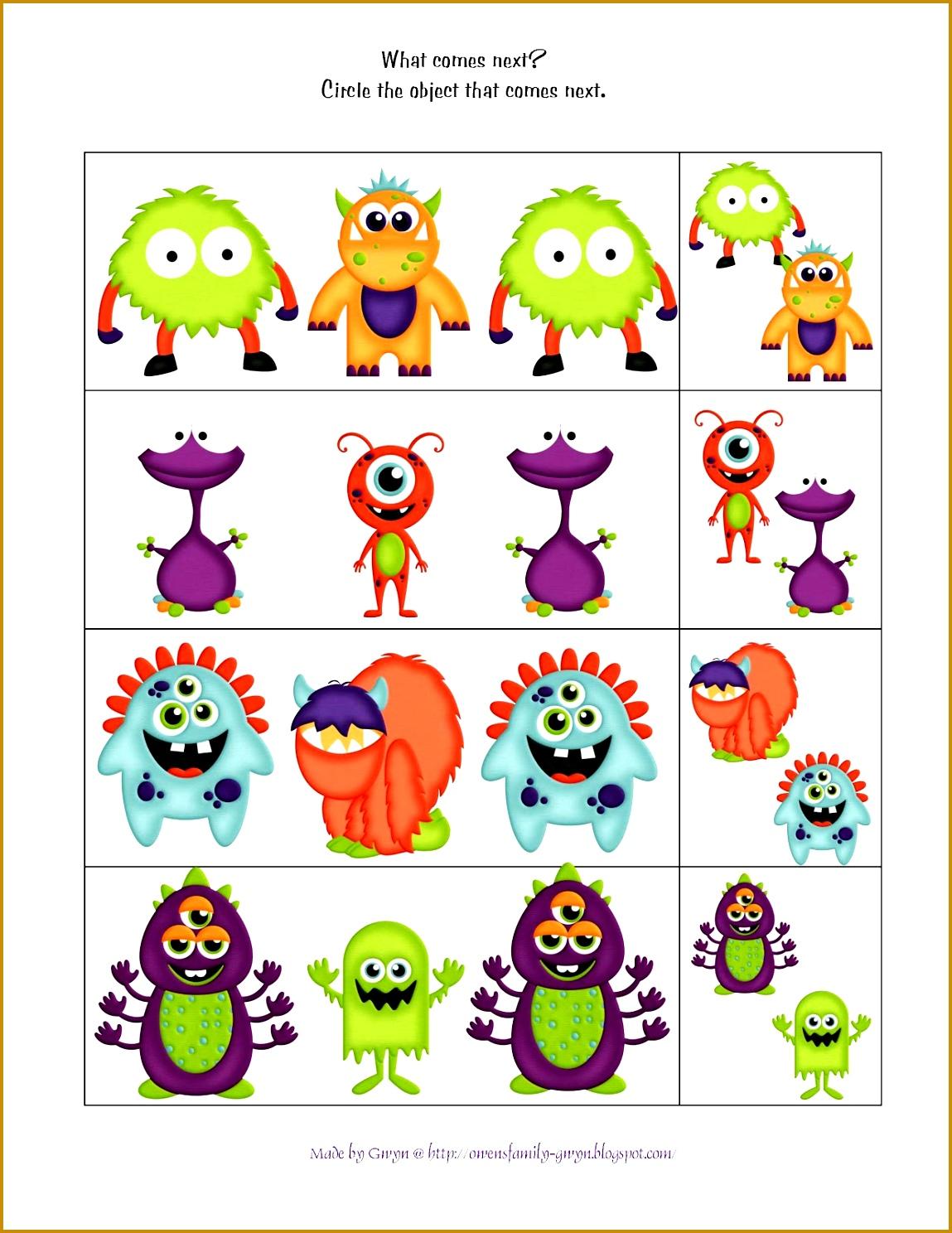 6 Worksheets For Preschool