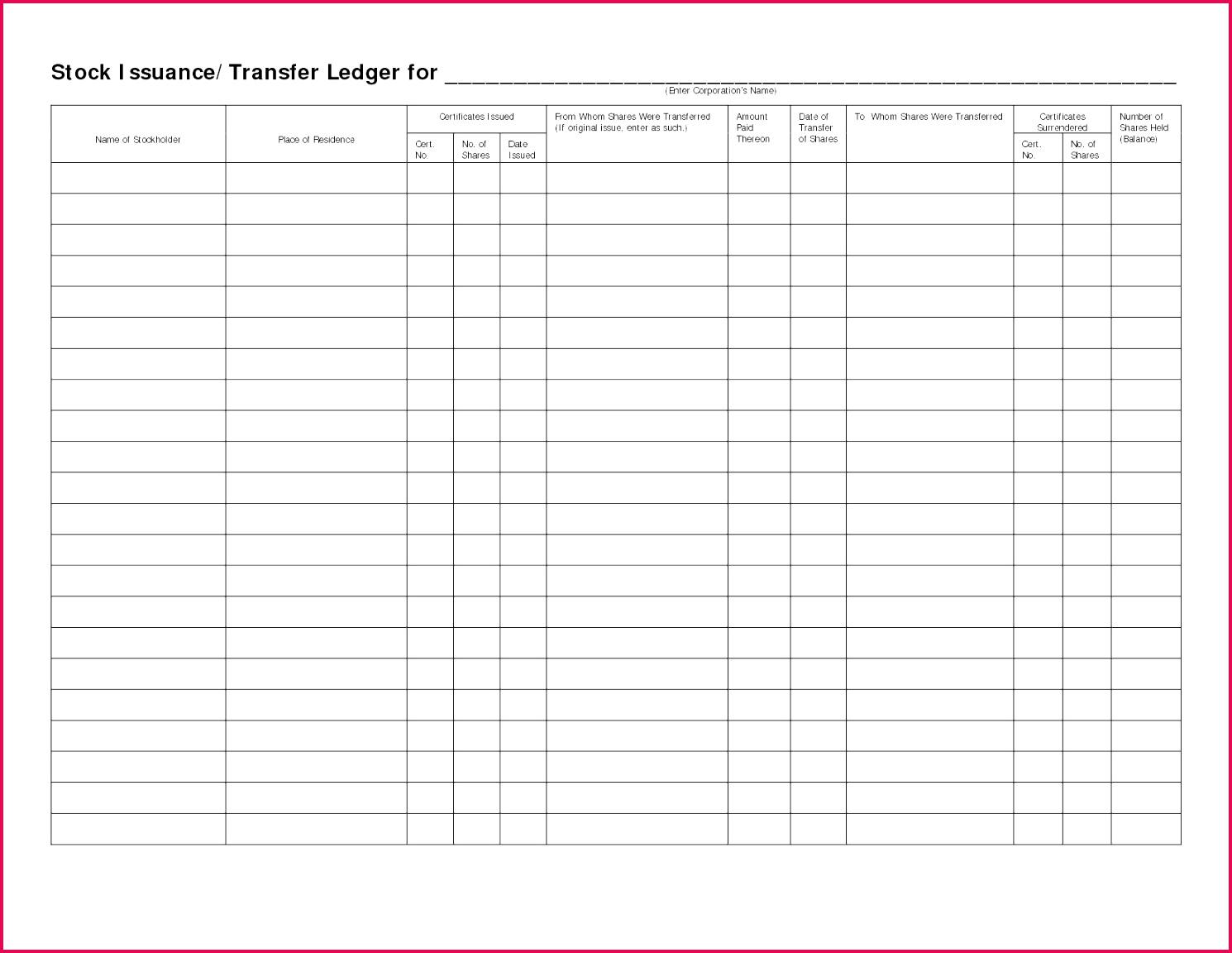 7 Bookkeeping Journal Template