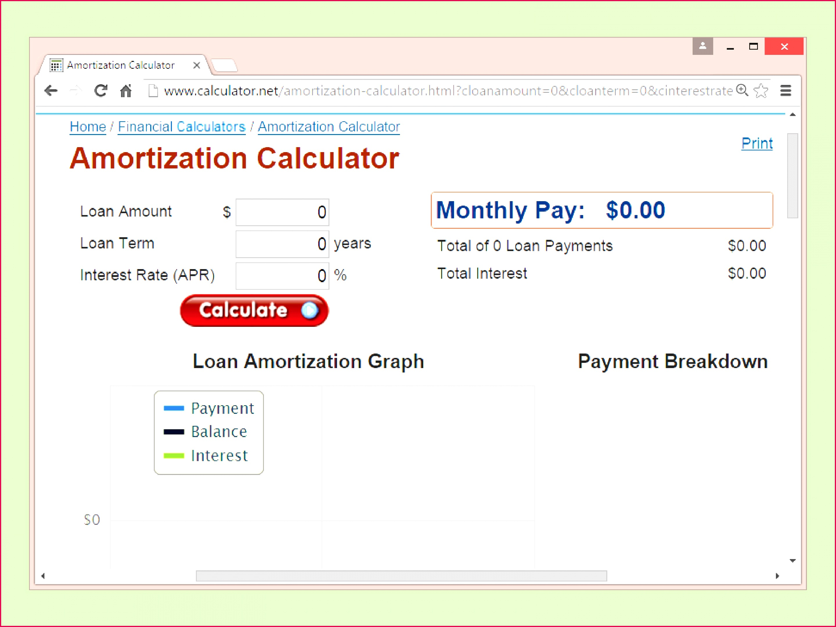 3 Loan Amortization Table Excel