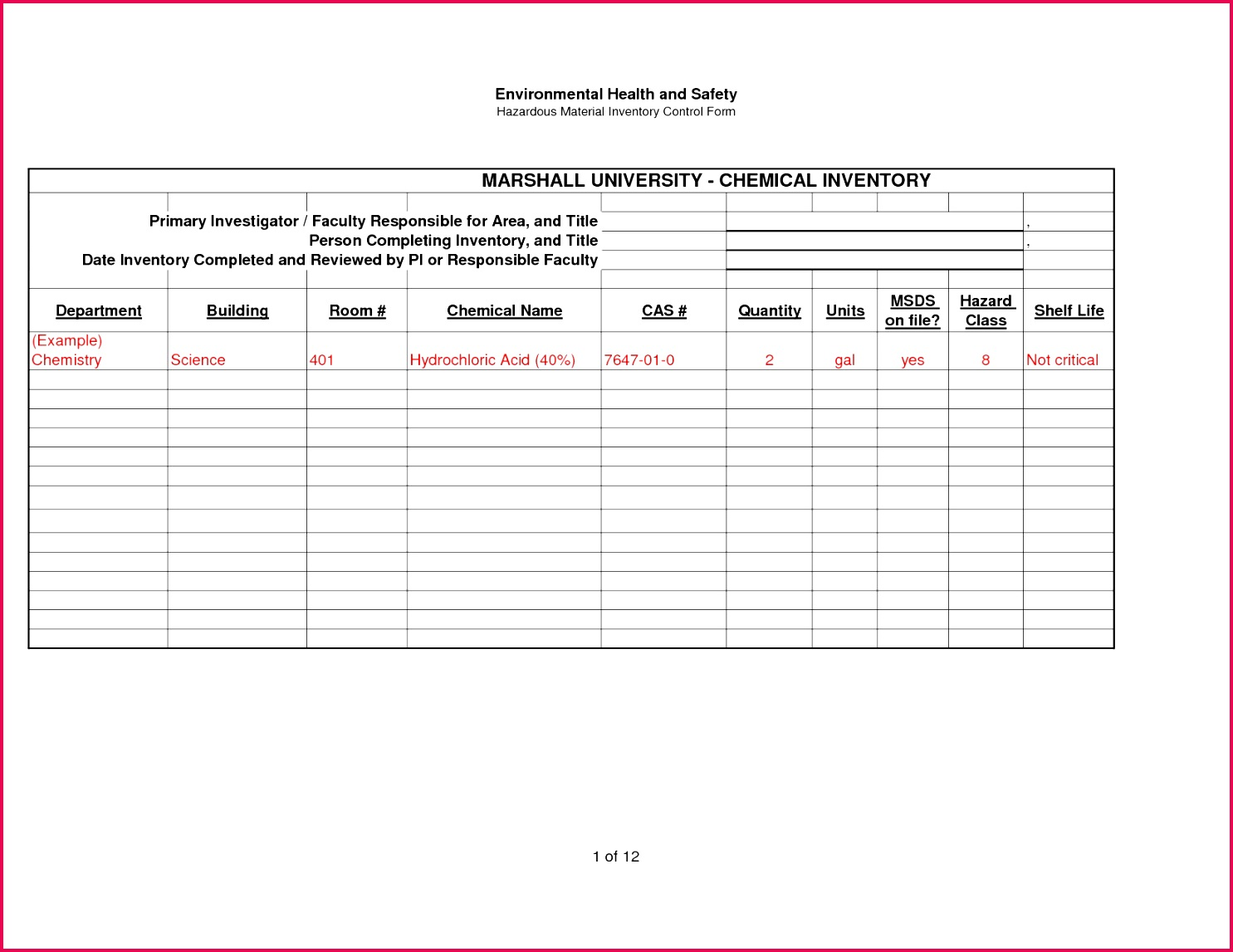 4 Store Inventory Template