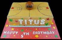 Basket Ball Court Cake