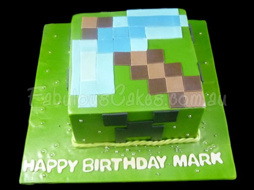 Simple Green Birthday Cake