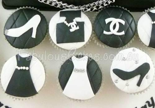 Chanel Hand Bag and Cupcakes