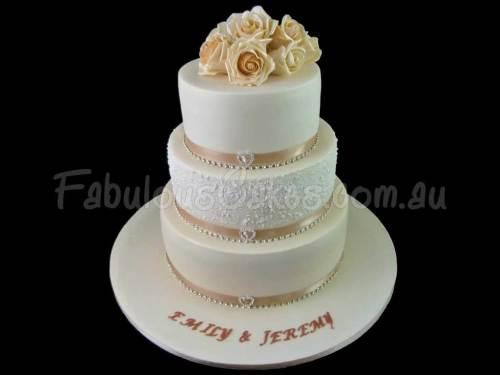 Cream Color Wedding Cake