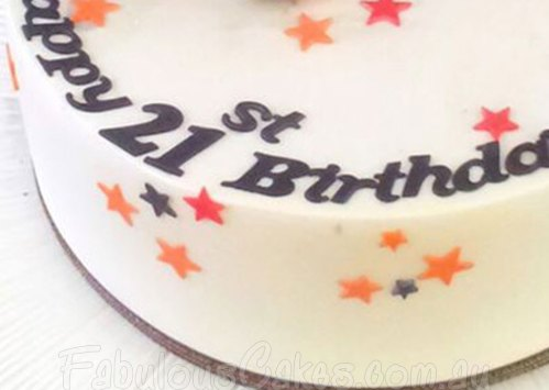 21st Birthday Cake for a boy