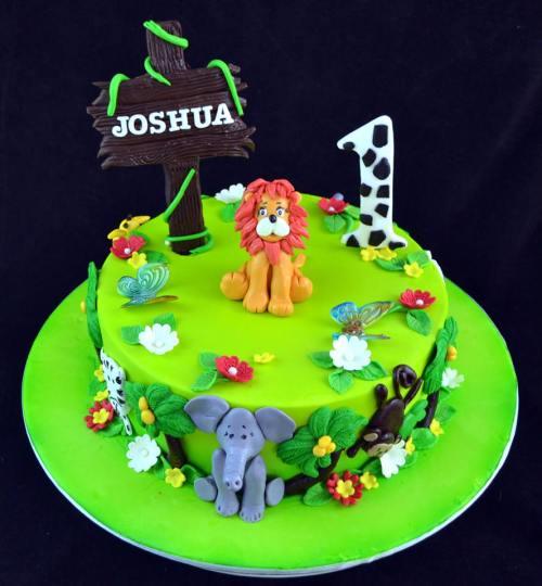 1st Birthday Forest Theme Cake