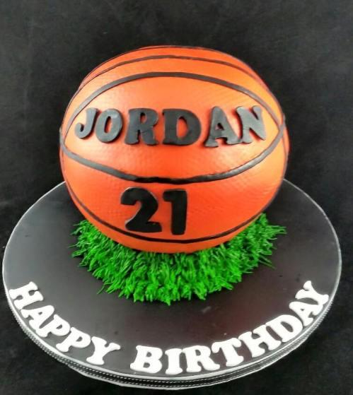 Basketball Cake for 21st Birthday