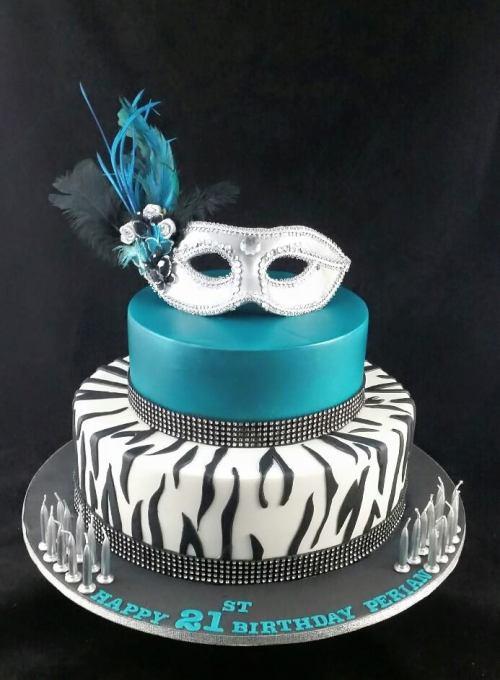Masquerade theme cake