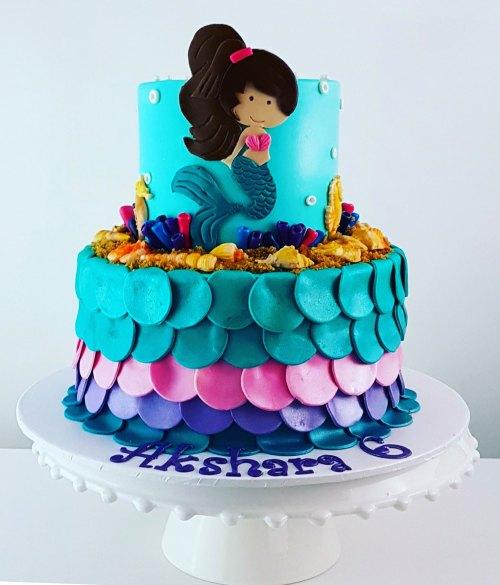 Mermaid Under The Sea Themed Cake