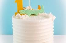Cute Crocodiles Cake for 1st Birthday