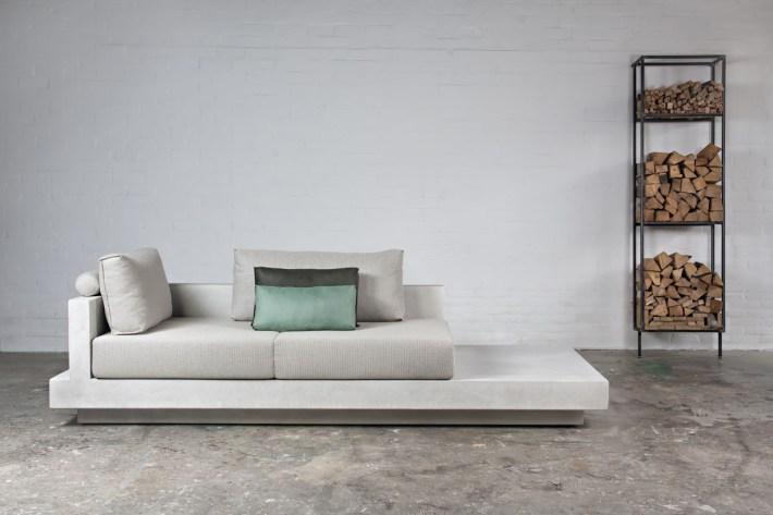 Net-Echt betonlook loungebank