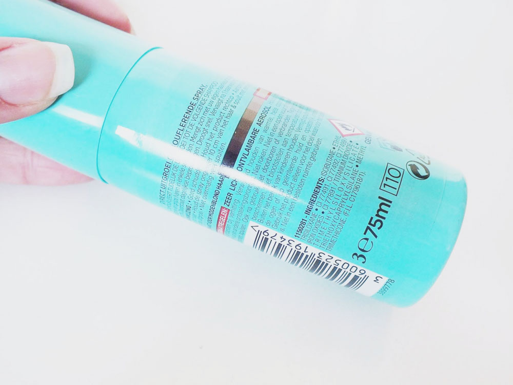 L'Oreal Uitgroei spray middenblond grijs haar ingrediënten