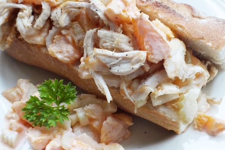 Recept: pulled chicken ananas-selderij salade