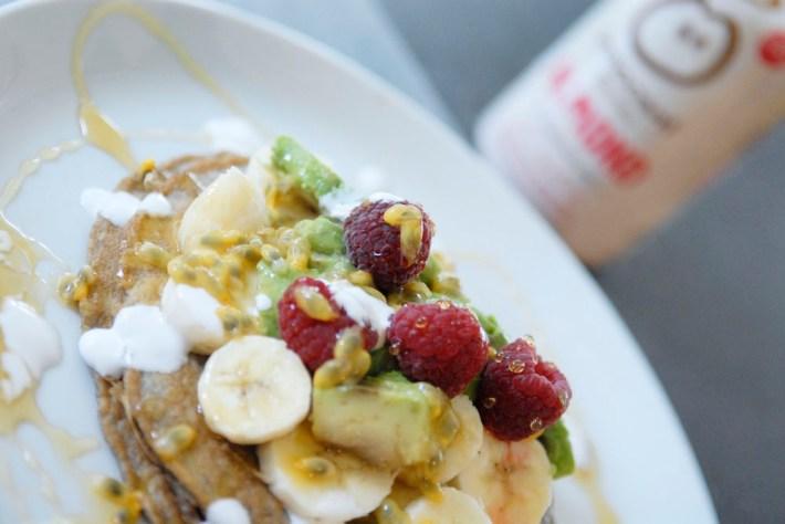 Recept Bananenmeel amandelmelk Innocent pannenkoeken vegetarisch