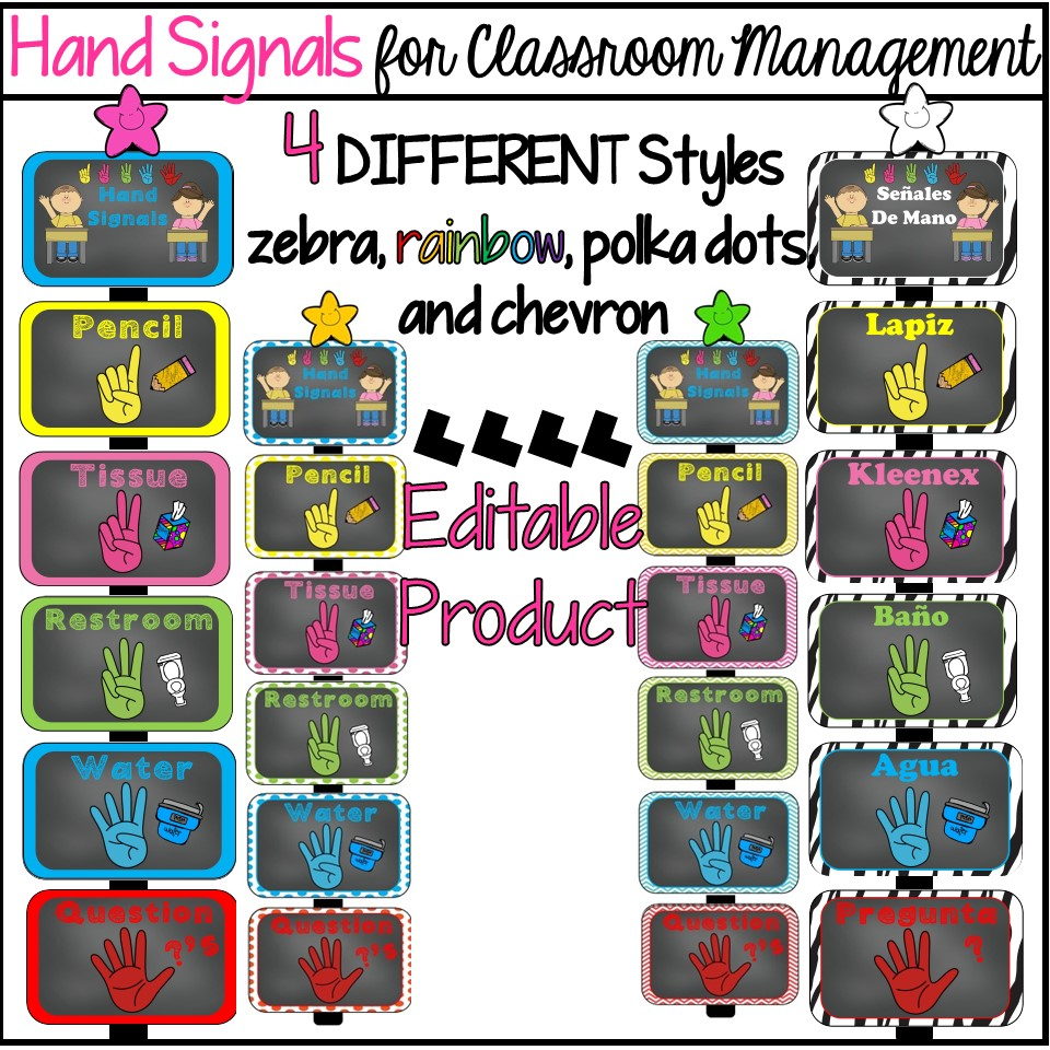 Surprising Hand Signals For Classroom Management Fabulous Figs Download Free Architecture Designs Scobabritishbridgeorg