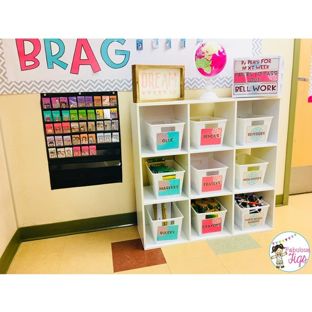Classroom Tour 2018-2019 Blooming Blossoming Flower Supply Labels