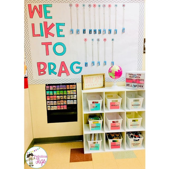 Classroom Tour 2018-2019 Blooming Blossoming Flower We Like to Brag Wall