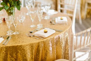 Gold Sequinned Table Cloth Fabulous Functions UK Swindon