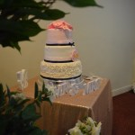Cake Table with Rose Gold Table Linen-FabulousFunctionsUK