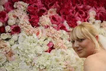 Flower Wall Backdrop-FabulousFunctionsUK