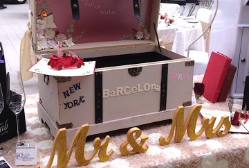 Post box for guest well wishing cards available for hire from Fabulous Functions Uk