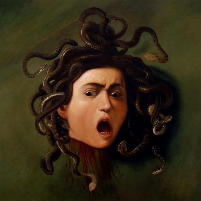 Caravaggio head of Medusa