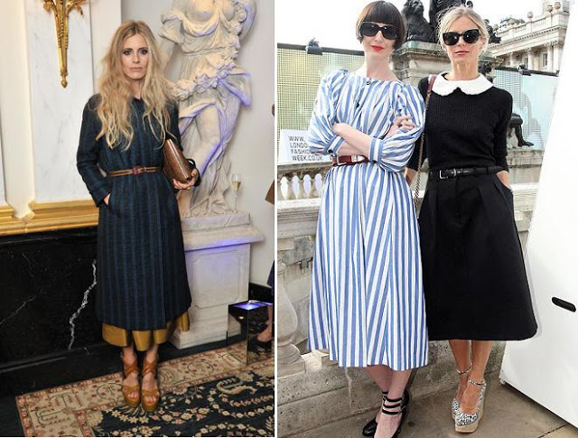 Laura Bailey and Erin O Conor in cool vintage frocks!