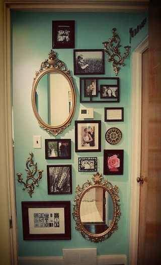Any thing can be framed or hung to create a display.
