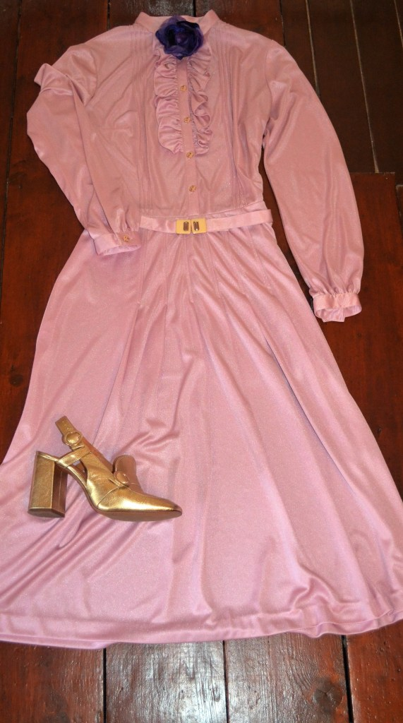 Straight off the Gucci runway - vintage 70's dress Ebay and shoes Top Shop.