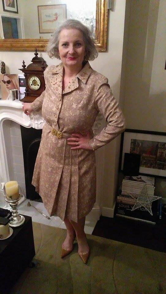 60's vintage dress from Ebay for about £30, shoes Christian Loubtain