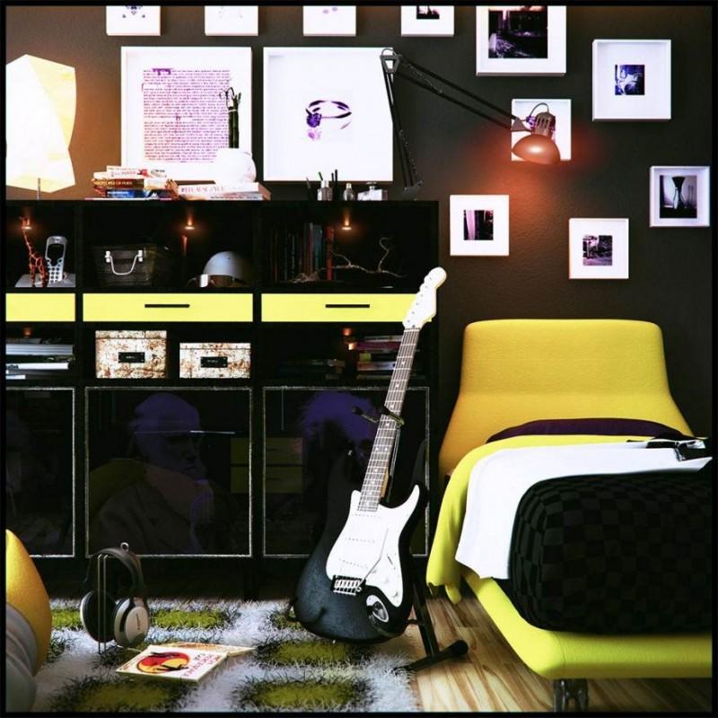 Cool Teenage Bedroom Ideas for Boys on Cool Rooms For Teenage Guys  id=15764