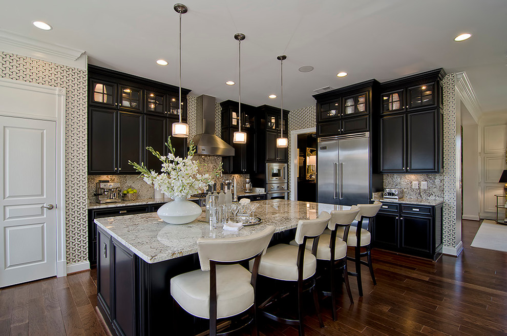 Black wood Kitchen Cabinets Design ideas on Traditional Kitchen Decor  id=64258