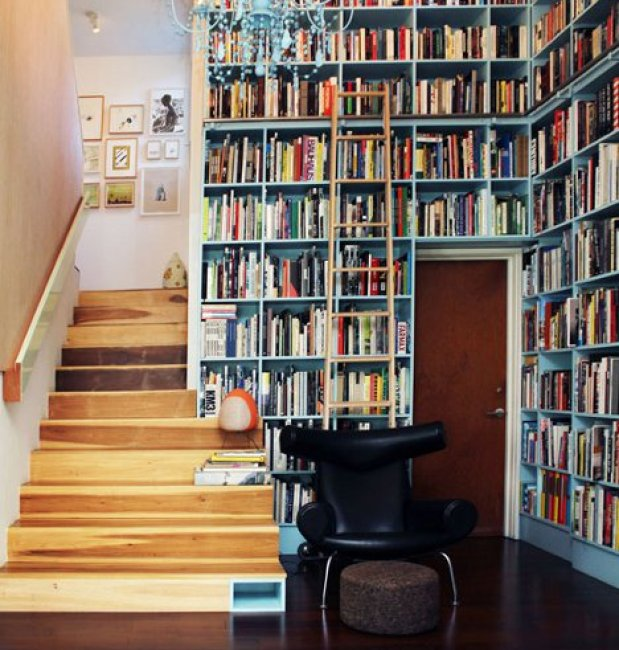 Charming And Organized Home Library