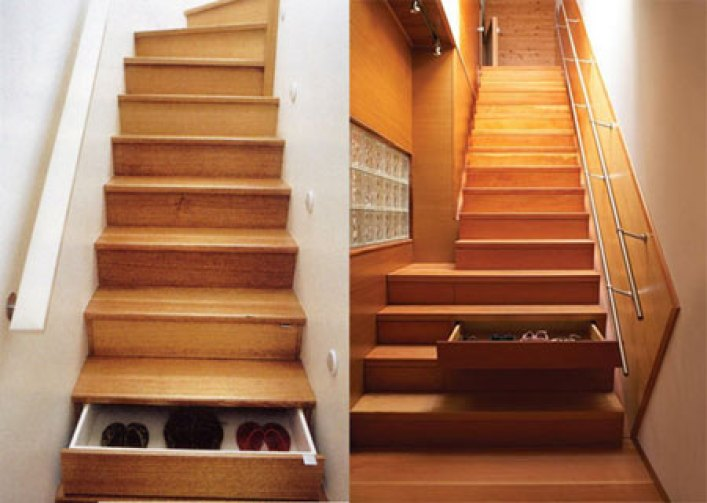 Lighting Basement Washroom Stairs: Under Stairs Shelving Design Ideas