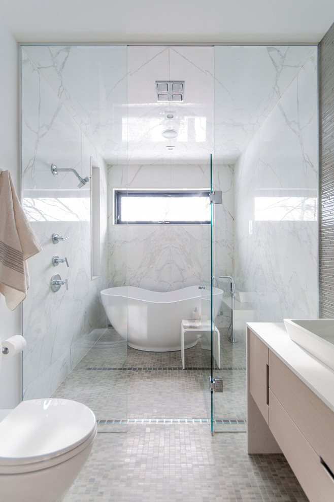10 Wet Room Designs for Small Bathrooms on Wet Room With Freestanding Tub  id=16822