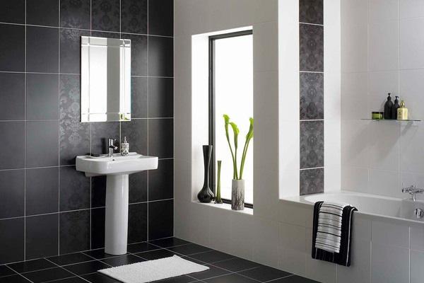 Monochromatic small bathrooms designs on Monochromatic Bathroom Ideas  id=72897