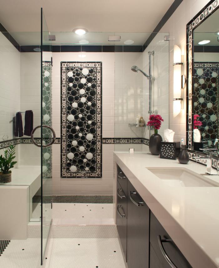 Monochromatic small bathrooms designs on Monochromatic Bathroom Ideas  id=94729