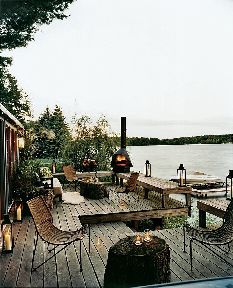 Thom Filicia Lake House Country Home New York on Lakefront Patio Ideas id=81811