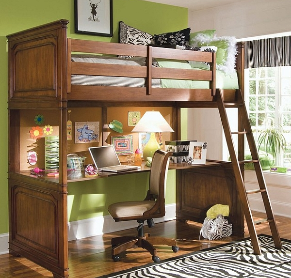 Small Space Loft Bed And Desk Combo